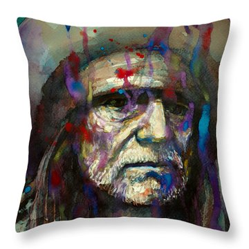 Blue Eyes Crying In The Rain Throw Pillow