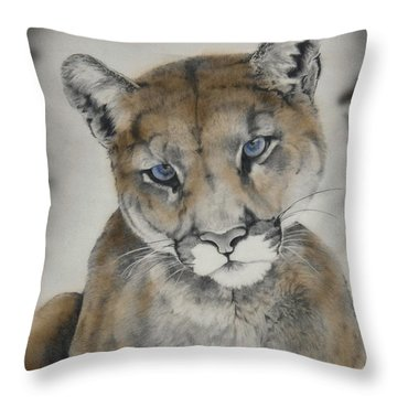 Blue Eyes Throw Pillow by Lori Brackett