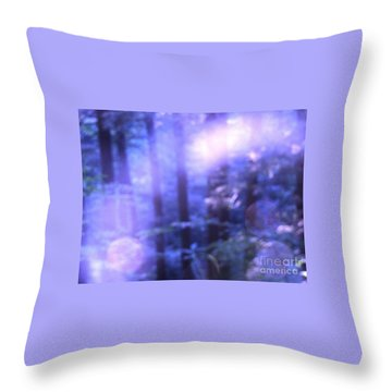 Blue Fairies Throw Pillow by Melissa Stoudt