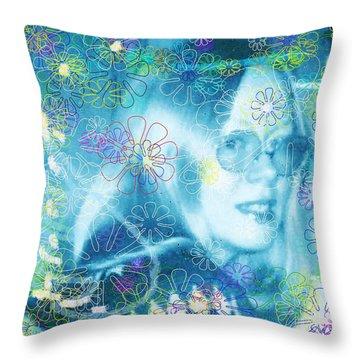 Blue Fairy Dream Throw Pillow