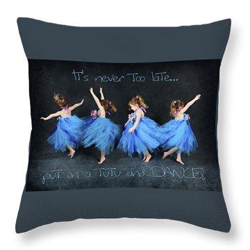 Blue Fairy Throw Pillow