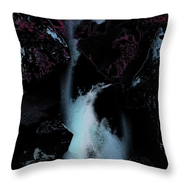 Blue Falls Throw Pillow