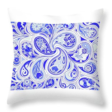 Blue Fantastic Throw Pillow