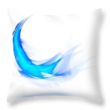 Blue Feather Throw Pillow by Setsiri Silapasuwanchai