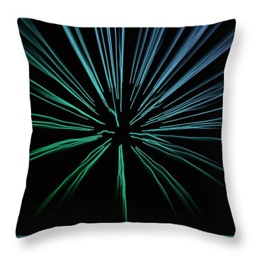 Throw Pillow featuring the photograph Blue Firework by Chris Berry