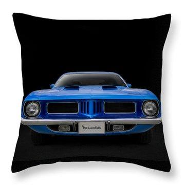 Blue Fish Throw Pillow by Douglas Pittman
