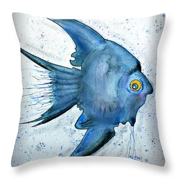 Throw Pillow featuring the photograph Blue Fish by Walt Foegelle