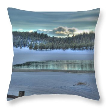Blue Flagstaff  Throw Pillow