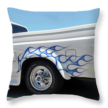Blue Flames Throw Pillow