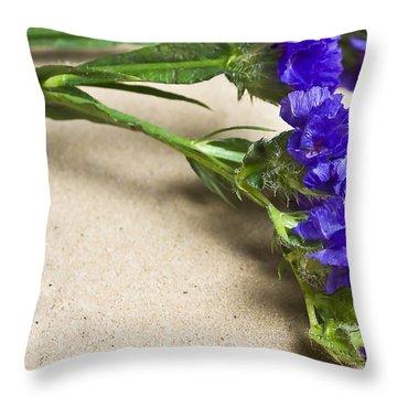 Blue Flower Throw Pillow by Svetlana Sewell
