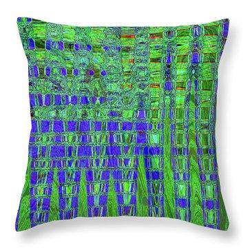 Blue For Green Throw Pillow