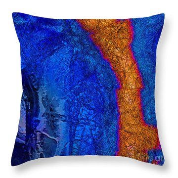 Blue Force Throw Pillow by Dee Flouton
