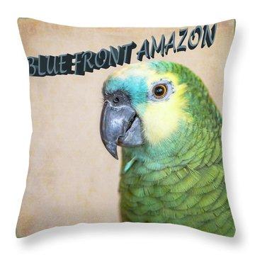 Blue Front Amazon Throw Pillow