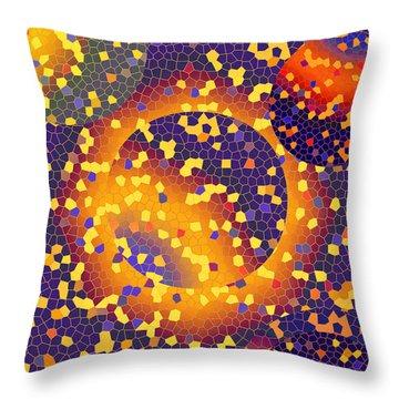 Throw Pillow featuring the digital art Blue Galaxy by Lynda Lehmann