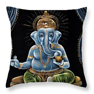 Shri Ganesha Throw Pillow