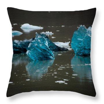 Blue Gems Throw Pillow