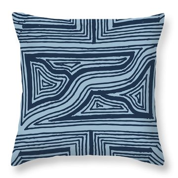 Blue Geo Throw Pillow