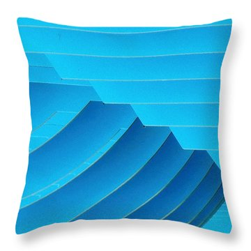 Blue Geometric Abstract 1 Throw Pillow