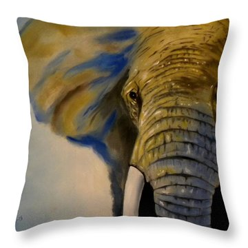Blue Giant Throw Pillow