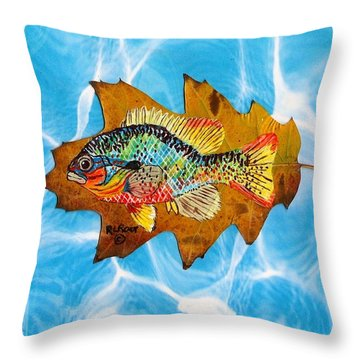 Blue Gill Throw Pillow