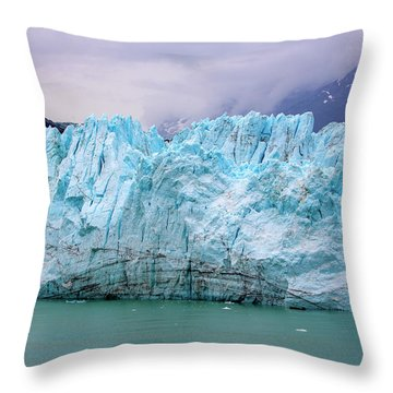Blue Glacier Throw Pillow