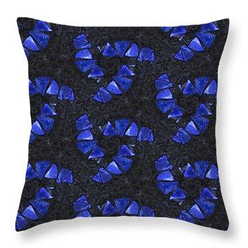 Blue Glass  Throw Pillow by Maria Watt