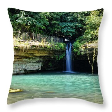Throw Pillow featuring the photograph Blue Glory by Cricket Hackmann