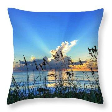 Blue Glow Throw Pillow