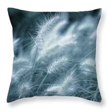 Blue Gras Throw Pillow