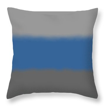 Blue-gray Storm - Sq Block Throw Pillow