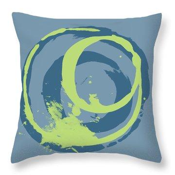 Blue Green 2 Throw Pillow by Julie Niemela