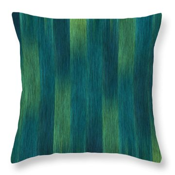 Blue Green Abstract 1 Throw Pillow