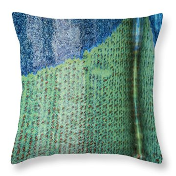 Throw Pillow featuring the photograph Blue/green Abstract by David Waldrop