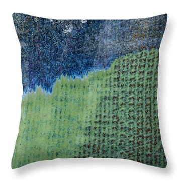 Throw Pillow featuring the photograph Blue/green Abstract Two by David Waldrop