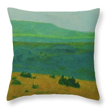 Blue-green Dakota Dream, 2 Throw Pillow