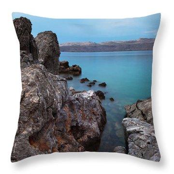 Blue, Green, Gray Throw Pillow