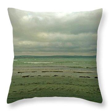 Blue Green Grey Throw Pillow
