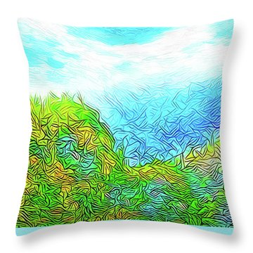 Blue Green Mountain Vista - Colorado Front Range View Throw Pillow by Joel Bruce Wallach