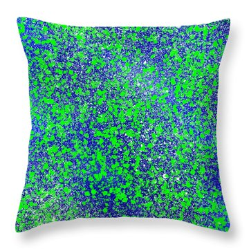 Blue Green Splatter Throw Pillow