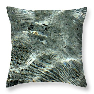 Throw Pillow featuring the digital art Painted Water by Ellen Barron O'Reilly
