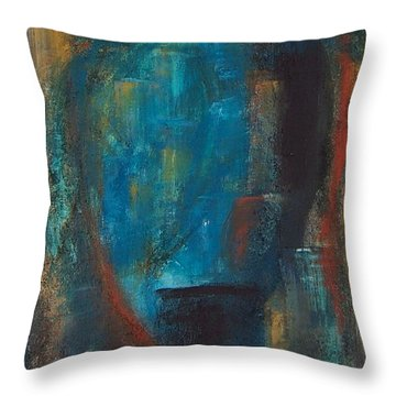 Blue Grotto Throw Pillow by Karen Day-Vath