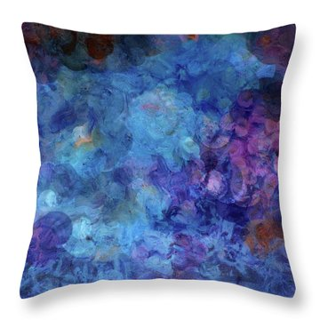 Blue Grotto Painting  Throw Pillow by Don Wright