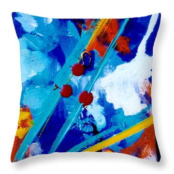 Blue Harmony  #128 Throw Pillow by Donald k Hall