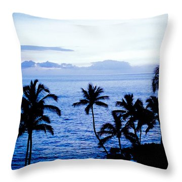 Blue Hawaii Throw Pillow by Russell Keating