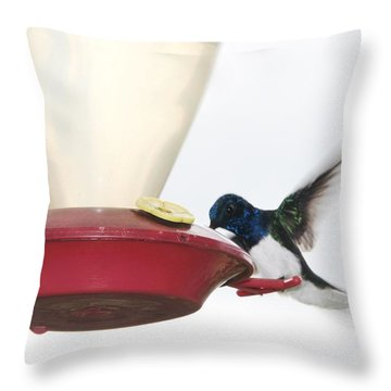 Blue Head Throw Pillow