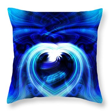 Blue Heart On Stage Throw Pillow