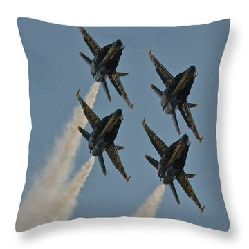 Throw Pillow featuring the photograph Blue Heaven by Carol  Bradley