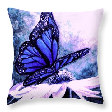 Blue Heaven Throw Pillow by Hazel Holland