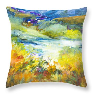 Blue Hills Throw Pillow by Glory Wood