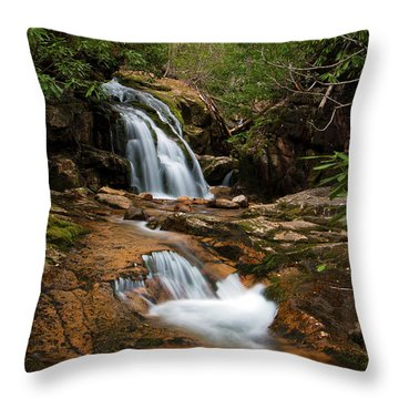 Blue Hole In Spring 2017 II Throw Pillow